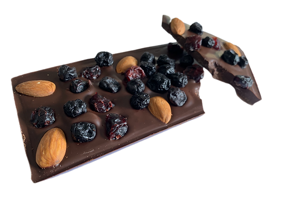 Exotic Fruit 'n' Nut Dark Chocolate Block