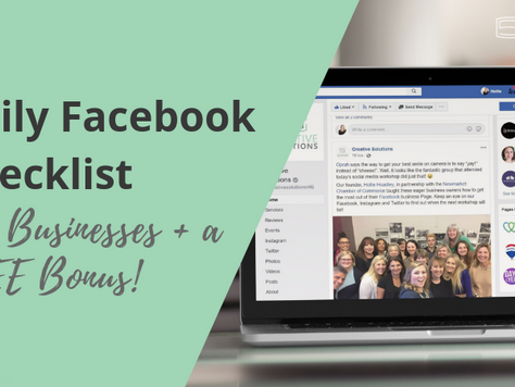 Daily Facebook Checklist for Businesses