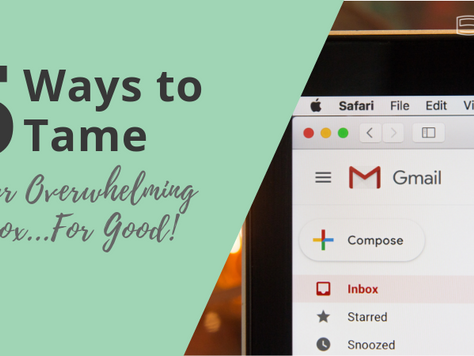 5 Ways to Tame Your Overwhelming Inbox