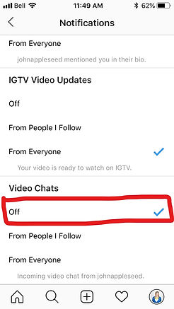 How to Disable Instagram Video Calls