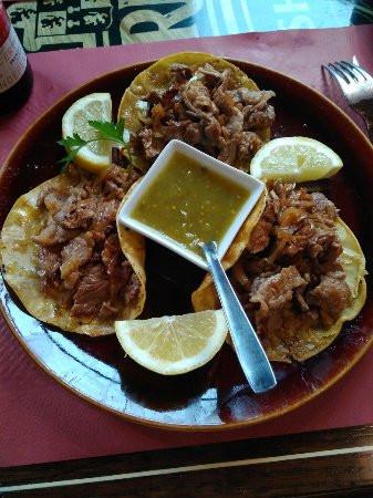 Tacos de Filete con cebolla