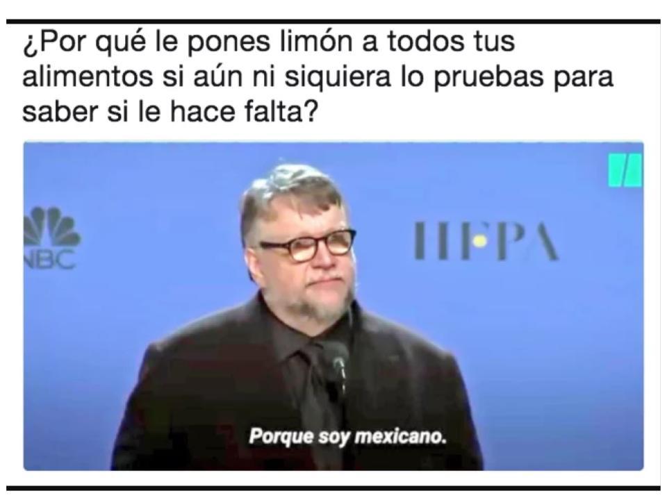 meme respuesta Guillermo del Toro