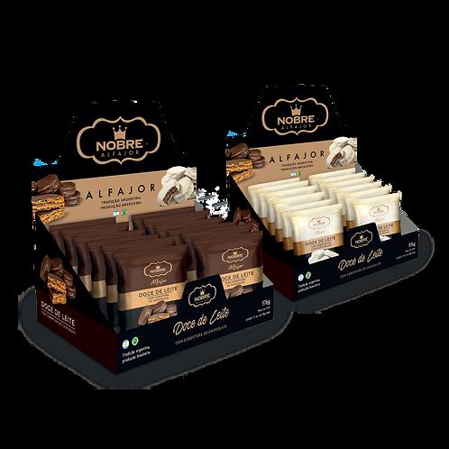2 Displays Alfajor Chocolate com 24 unidades