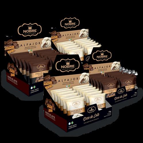 4 Displays Alfajor Chocolate com 48 unidades