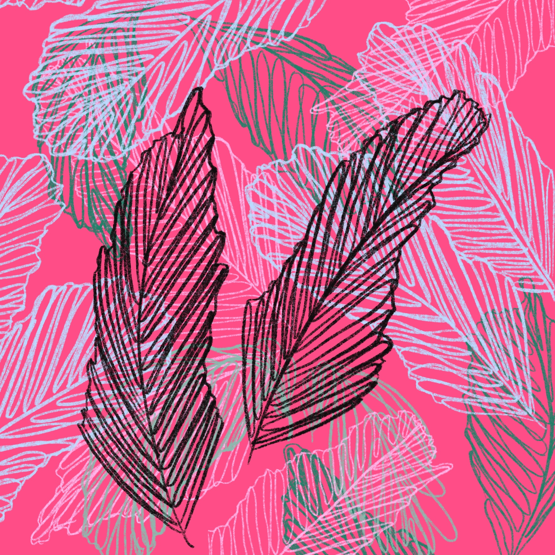 Pink Feather Handmade Pattern
