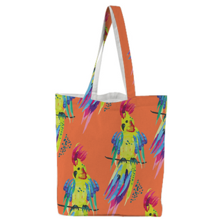 WAVYSALTYHAPPY X PAOM Tote Bag Tropical Parrot