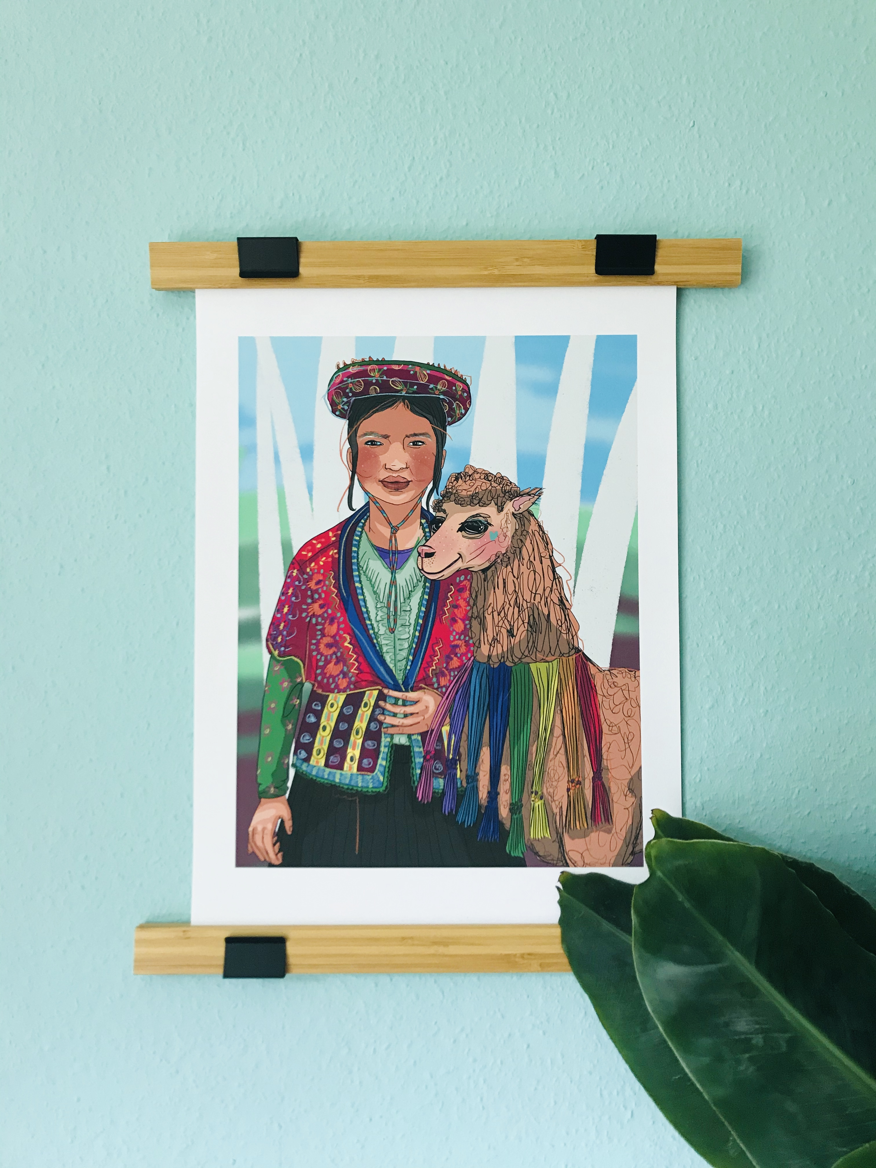 Woman From The Andes Print