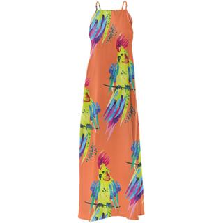 WAVYSALTYHAPPY X PAOM Dress Tropical Parrot