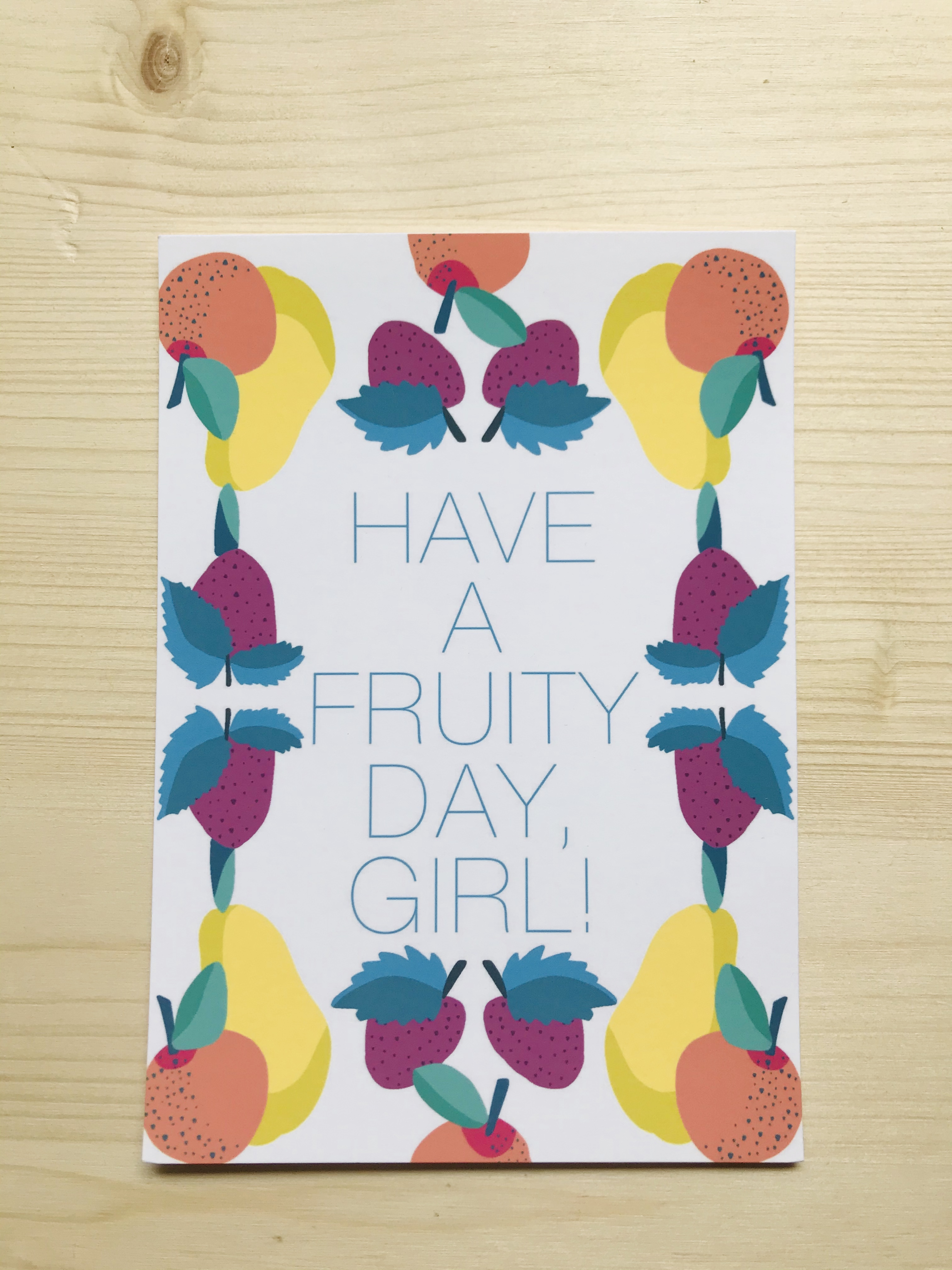 Have A Fruity Day Postcard