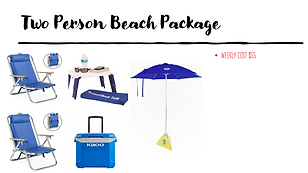 2 Person Beach Package