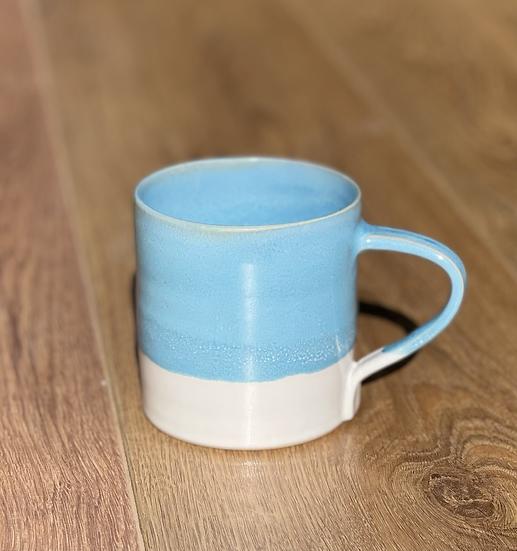 Dalton Mugs - Turquoise & White