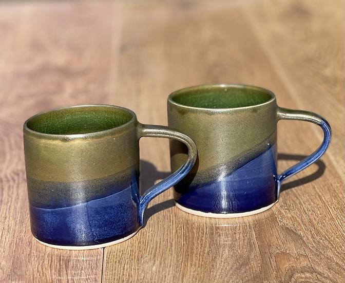 Dalton Mugs - Olive & Blue