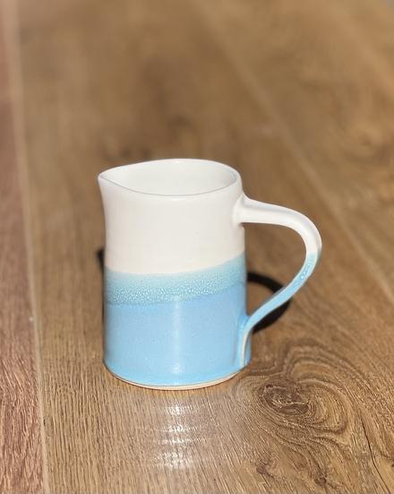 Pilling Jug - Turquoise ice & White