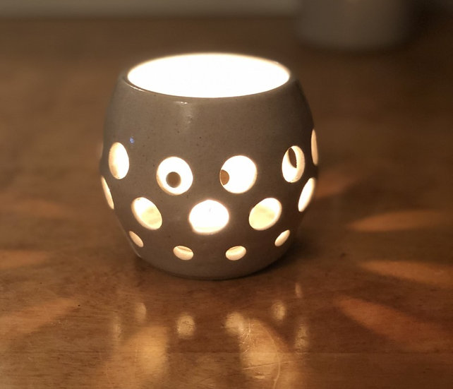 Tea Light Holder - white