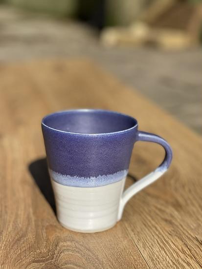 Beaumont Mugs - Purple & White