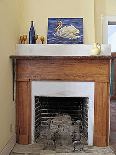 Restored Fireplace in the first indoor kitchen