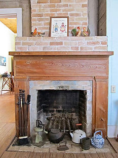 Restored Fireplace in one of 4 Rooms