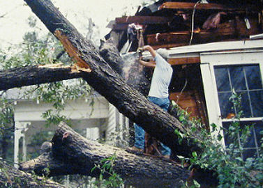 Tornado takes out SE corner of the old farm house