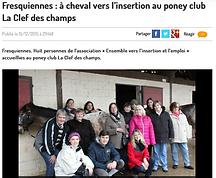 Article du Paris Normandie sur l'association Ensemble vers l'insertion et l'emploi 15/12/2015