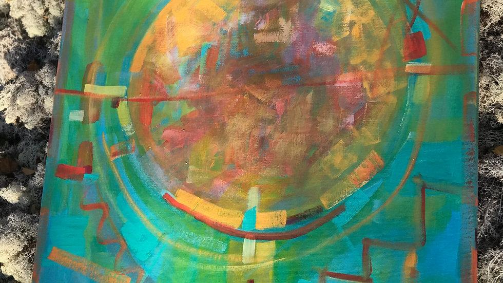 """akrylmålning""""Nya möjligheter/New oppurtunities"""""""