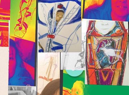 En artist berättar om sina senaste konstverk