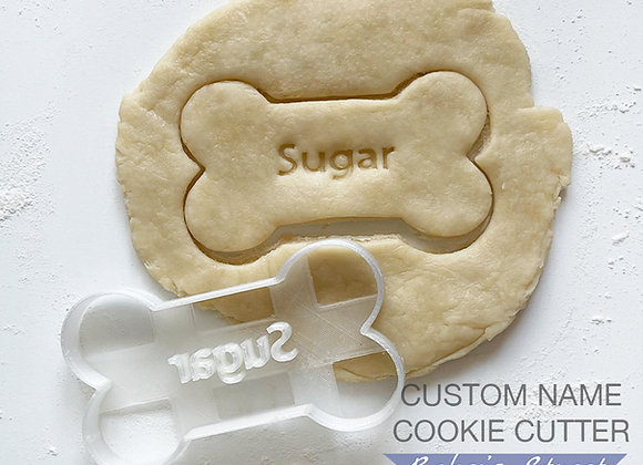Custom Bone with Personalized Pet Name Cookie Cutter