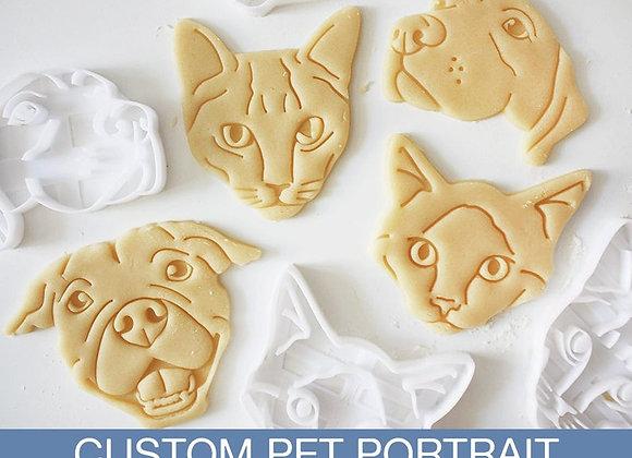 Custom Pet Portrait Cookie Cutter