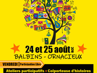 Du Papier à l'Arbre participe au Festival O'Balbin's'art