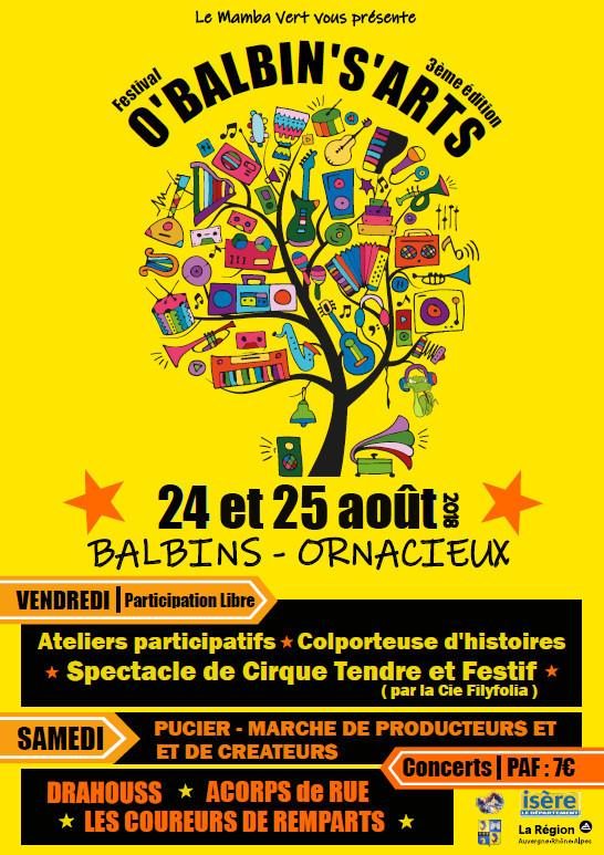Affiche du festival O'Balbin's'art