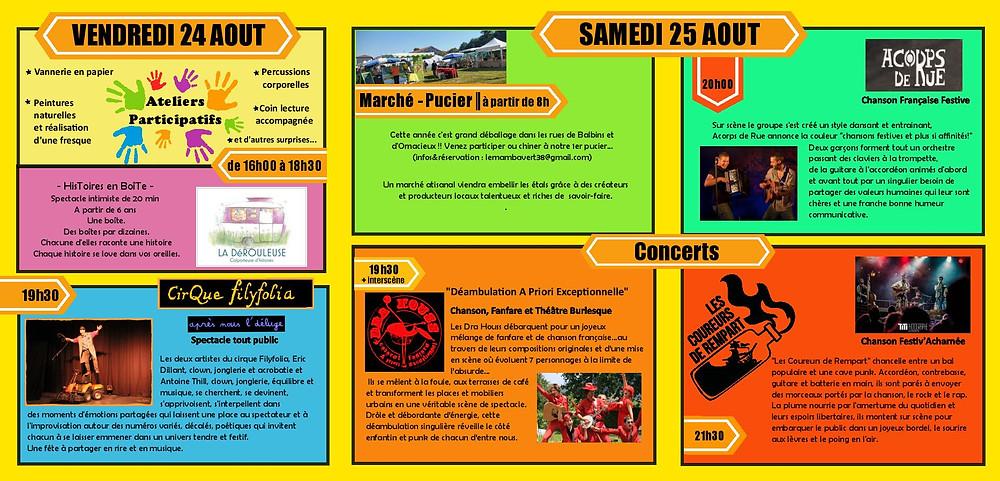 programme du festival O'Balbin's'art