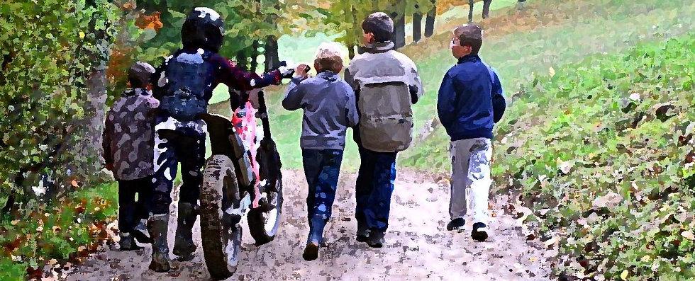 Fin d'une compétition de trial moto