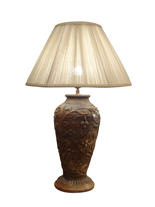 Carved Wooden Table Lamp Collection