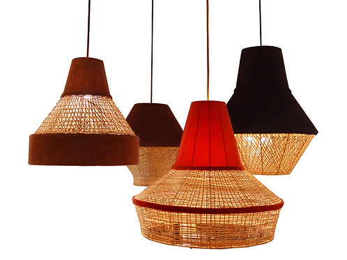 CANE AND VELVET PENDANT COLLECTION