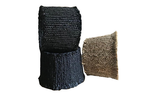 Rugged edge hand-knitted jute fibre rope lampshade
