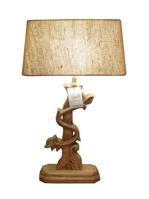 Carved Wooden Table Lamps Collection