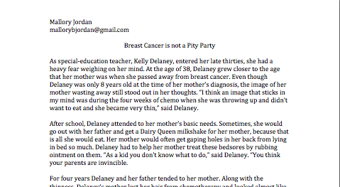 Breast Cancer is not a Pity Party