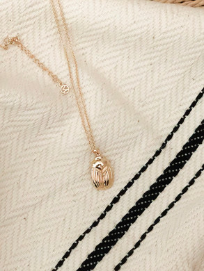 Mejuri   The Menagerie Collection - Scarab Necklace