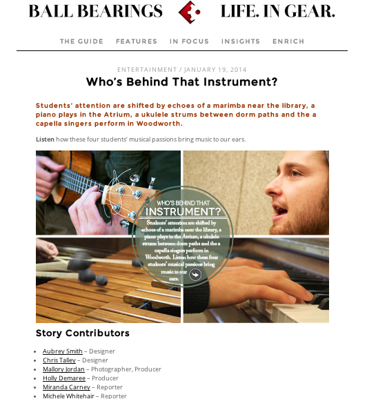 Behind the Instrument