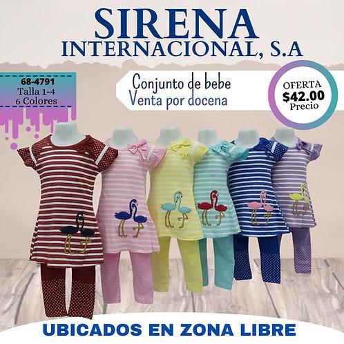 Conjunto de bebe (La docena) / 6 Colores / Talla: 1-4