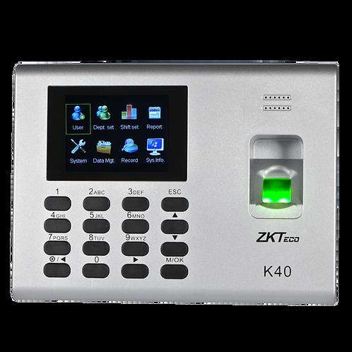 ZKTECO K40 Control de Asistencia CON BATERIA DE RESERVA 1,000 HUELLAS
