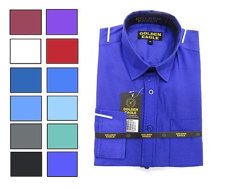 Camisa de Caballero Manga Larga REF 50-0552 S-L