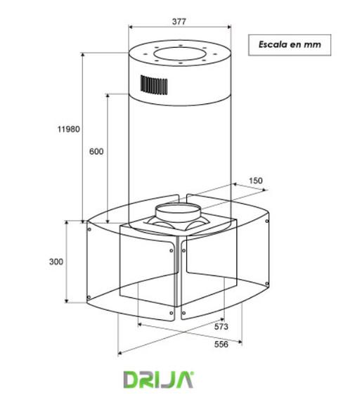 instalar tubo campana extractora simple campana