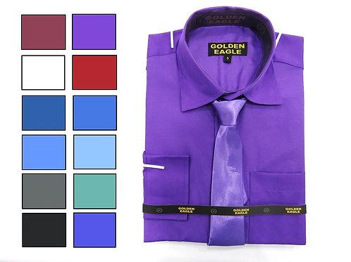Camisa de Caballero Manga Larga REF 50-0557 S-XL