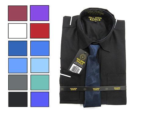 Camisa de Caballero Manga Larga REF 50-0558 S-L