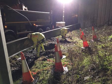 M25 Drainage works