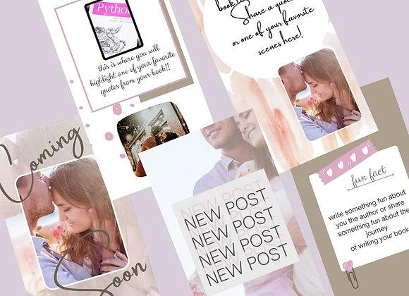 Light Oak Stories Bookstagram Templates