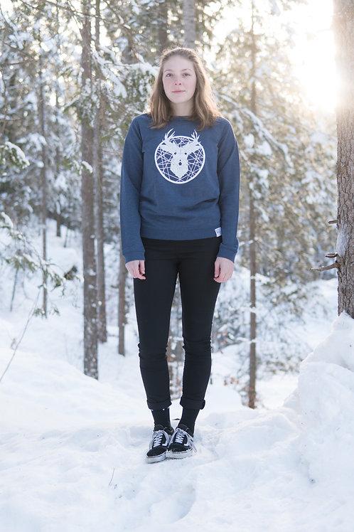 «Tscharva» Sweatshirt Damen – Blau melange