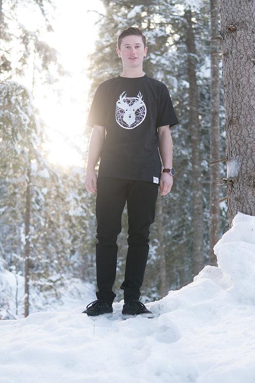 «Tscharva» T-Shirt Herren - Schwarz