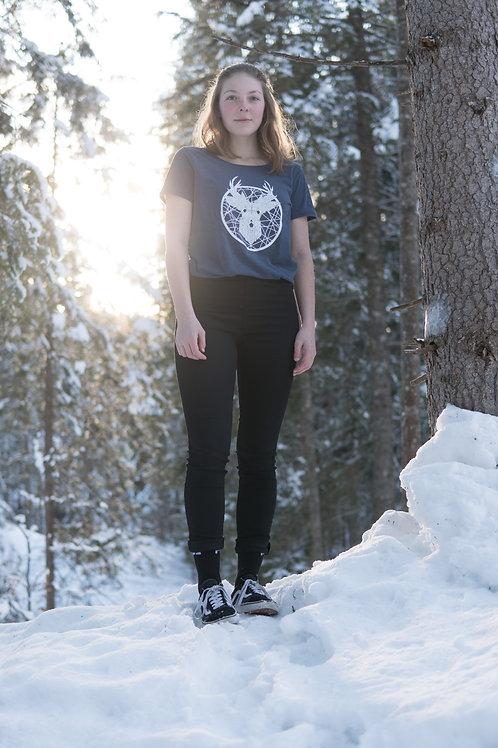 «Tscharva» T-Shirt Damen - Blau melange
