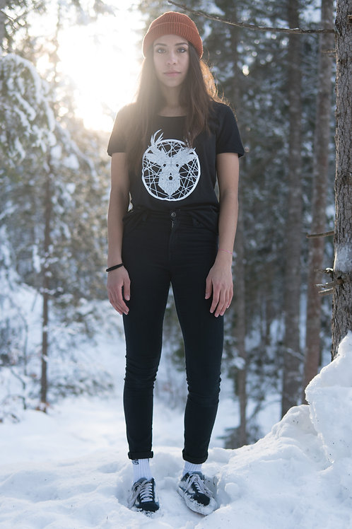 «Tscharva» T-Shirt Damen - Schwarz